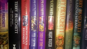 I can honestly say we have never said we don't have a book to read. Pratchett is one of the few authors we read over and over and over again.